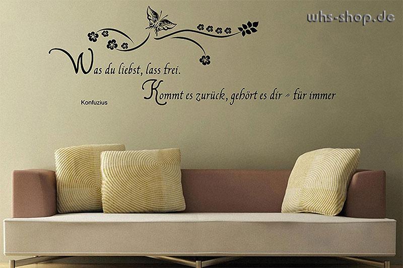 wandtattoos zitate worte spr che whs werbetechnik. Black Bedroom Furniture Sets. Home Design Ideas